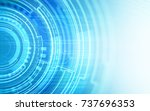 abstract technology circuit... | Shutterstock . vector #737696353