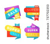 super sale  vector collection... | Shutterstock .eps vector #737702353