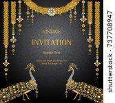 wedding invitation card... | Shutterstock .eps vector #737708947