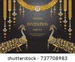 wedding invitation card... | Shutterstock .eps vector #737708983
