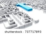 3d illustration. blue arrow... | Shutterstock . vector #737717893