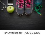 fitness healthy concept... | Shutterstock . vector #737721307