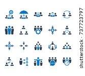teamwork icons   blue version | Shutterstock .eps vector #737723797