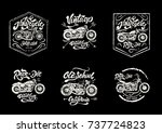 motorcycle set for print on t... | Shutterstock .eps vector #737724823