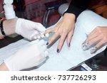 professional beauty treatment ... | Shutterstock . vector #737726293