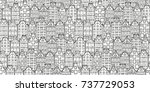 hand drawn doodle houses... | Shutterstock .eps vector #737729053