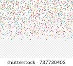 falling colorful confetti... | Shutterstock .eps vector #737730403