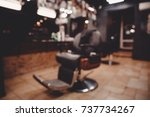 barbershop. blurred background... | Shutterstock . vector #737734267