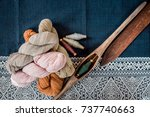 hand woven cotton is a folk... | Shutterstock . vector #737740663