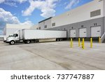 warehouse loading dock with... | Shutterstock . vector #737747887
