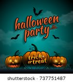 happy halloween party trick or... | Shutterstock .eps vector #737751487