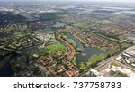 aerial view of residential area   Shutterstock . vector #737758783