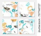 hand drawn creative universal... | Shutterstock .eps vector #737760727