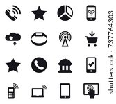 16 vector icon set   call  star ...