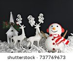 christmas decoration | Shutterstock . vector #737769673