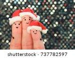 fingers art of family... | Shutterstock . vector #737782597