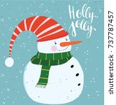 snowman vector illustration | Shutterstock .eps vector #737787457