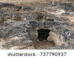entrance to a funerary chamber...   Shutterstock . vector #737790937