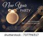 New Year Golden Ball Decoratio...