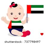 smiling baby toddler  girl... | Shutterstock .eps vector #737798497