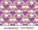 watercolor seamless pattern on... | Shutterstock . vector #737798707