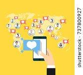 social network  people... | Shutterstock .eps vector #737800927