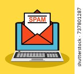 spam email warning window... | Shutterstock .eps vector #737801287