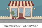 vector facade of the building...   Shutterstock .eps vector #737809537