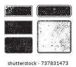 vector grunge post stamps.set... | Shutterstock .eps vector #737831473
