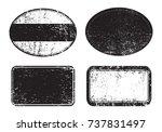 vector grunge post stamps.set... | Shutterstock .eps vector #737831497
