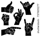 hand gestures and signs.... | Shutterstock .eps vector #737835277