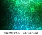 dark blue  green vector natural ... | Shutterstock .eps vector #737837833