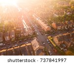 sun setting over a traditional... | Shutterstock . vector #737841997