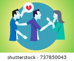 love affair and conflict... | Shutterstock .eps vector #737850043