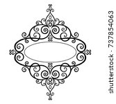 premium  vintage baroque frame... | Shutterstock .eps vector #737854063