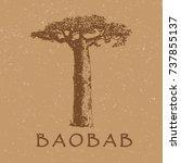 baobab tree | Shutterstock .eps vector #737855137