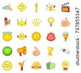 grant icons set. cartoon set of ... | Shutterstock . vector #737855167