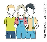 people casual avatars characters | Shutterstock .eps vector #737862127