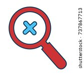 magnifying glass isolated icon | Shutterstock .eps vector #737867713