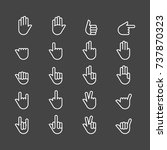 hands icon vector set | Shutterstock .eps vector #737870323