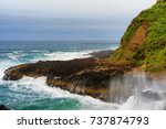 Waves Hit The Rocky Shores Of...