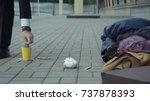 Rich Man Passerby Giving Money...