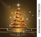 christmas tree background ... | Shutterstock .eps vector #737881153