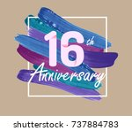 16th anniversary with colorful...