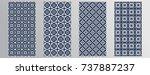 set seamless patterns  tiling . ...   Shutterstock .eps vector #737887237