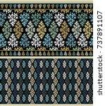 seamless ornamental vector...   Shutterstock .eps vector #737891107
