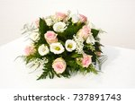 flowers bouquet for special... | Shutterstock . vector #737891743