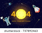 error message 404 page not... | Shutterstock .eps vector #737892463