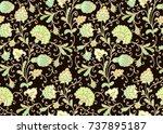 seamless vector floral pattern...   Shutterstock .eps vector #737895187