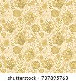 seamless vector floral pattern...   Shutterstock .eps vector #737895763